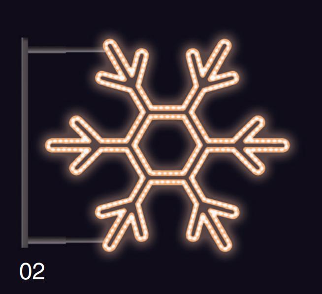 VLOČKA KLASIK s konzolí 75x75 teplá bílá