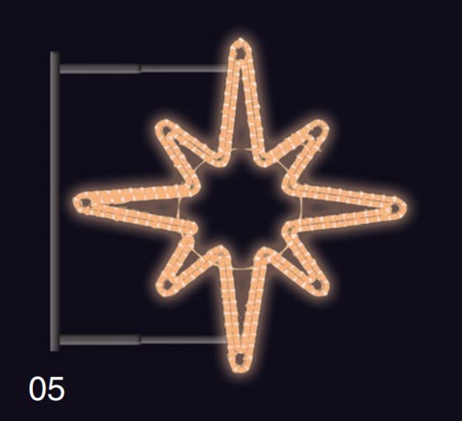 Hvězdice s konzolí 80x80cm teplá bílá