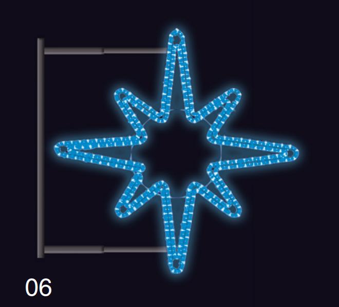 Hvězdice s konzolí 80x80cm modrá