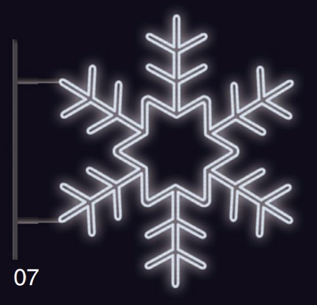 VLOČKA KRYSTAL s konzolí 75x75cm  studená bílá