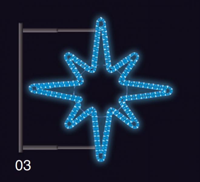 HVĚZDICE s konzolí 1,2x1,2m modrá