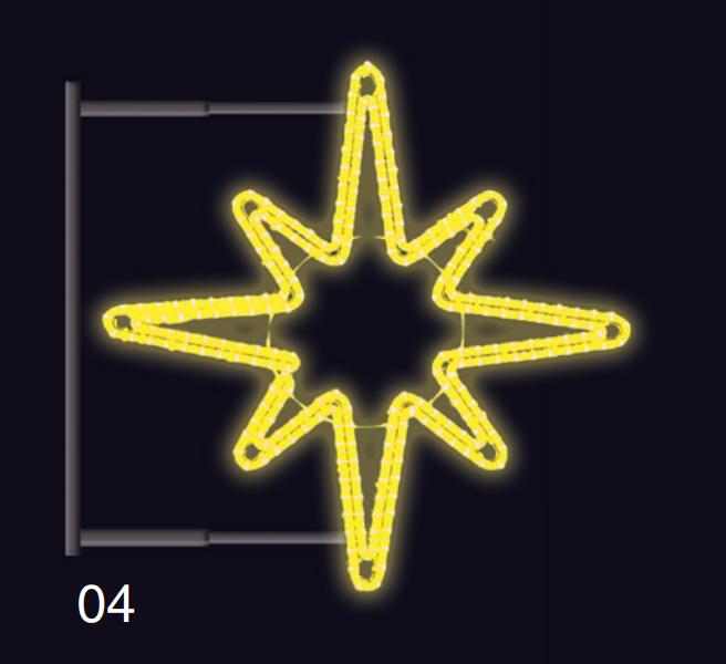 HVĚZDICE s konzolí 1,2x1,2m žlutá
