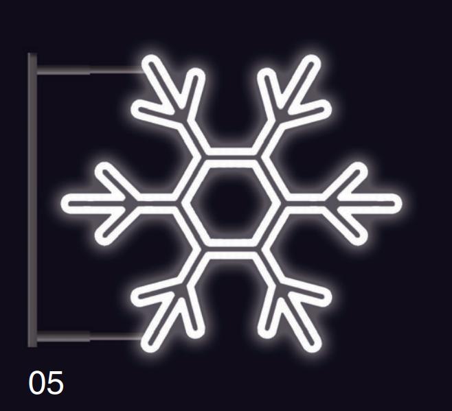 VLOČKA KLASIK s konzolí 1,2x1,2m studená bílá