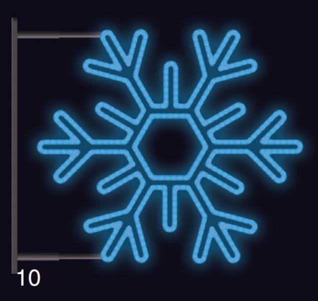 VLOČKA ŠESTIRAMENNÁ s konzolí 1,2x1,2m modrá