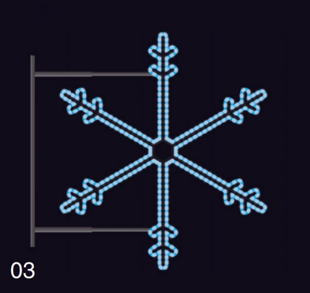 SNĚHOVÁ VLOČKA s konzolí 1,15x1,05m modrá