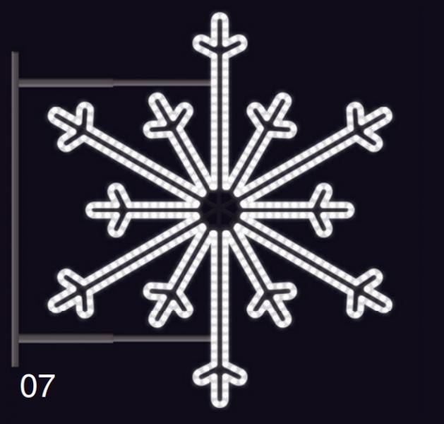SEVERNÍ VLOČKA s konzolí 1,2x1,2m studená bílá