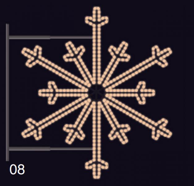 SEVERNÍ VLOČKA s konzolí 1,2x1,2m teplá bílá