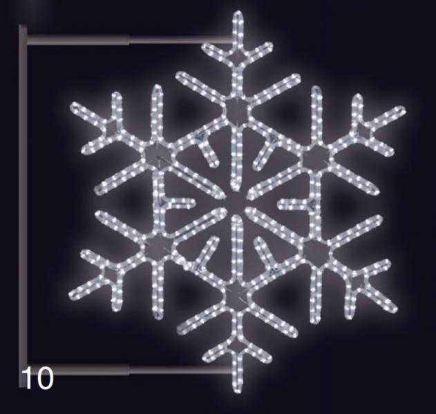 VLOČKA DIAMANT s konzolí 0,95x0,95m studená bílá
