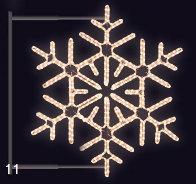 VLOČKA DIAMANT s konzolí 0,95x0,95m teplá bílá