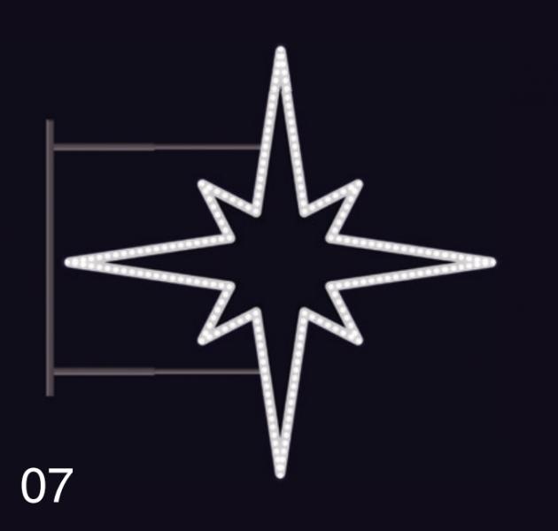 HVĚZDICE STANDARD 1,15x1,15m  studená bílá (2)