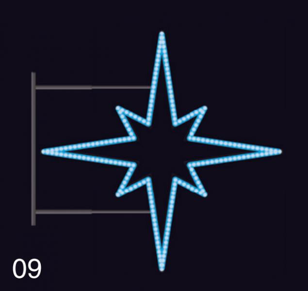 HVĚZDICE STANDARD 1,15x1,15m modrá
