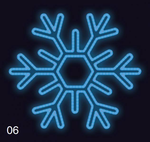 VLOČKA ŠESTIRAMENNÁ 75x75 modrá