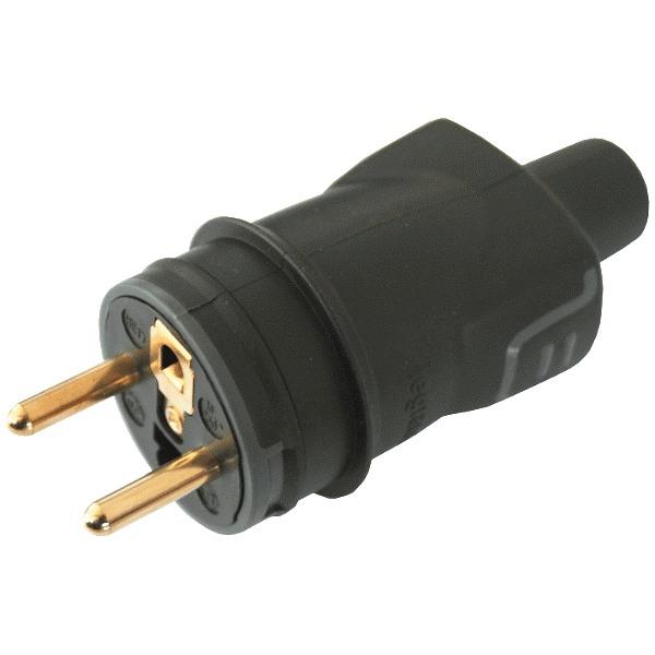 Legrand 50445 - Vidlice gumová 2P+T 16A/250V IP44 černá