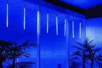 Sada LED Rampouchů - padající sníh -  6ks 144 LED - 12 m studená bílá