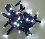 LED řetěz HIGH-PROFI studená bílá 40 LED/5m prodloužitelný
