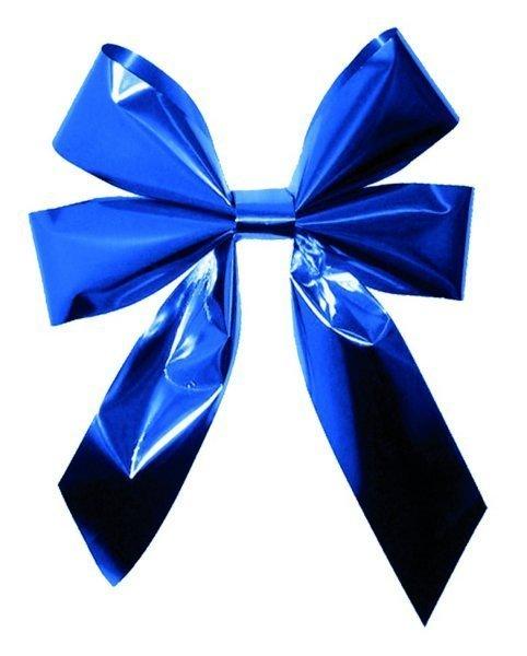 Vánoční mašle dvojitá modrá