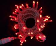LED řetěz profesionální stále-svítící 40 LED/5m červená  #
