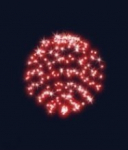 3D hvězdná koule průměr 55 cm, stálesvítící červená