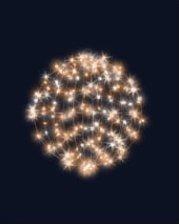 3D hvězdná koule, průměr 55cm, FLASH efekt, teplá bílá