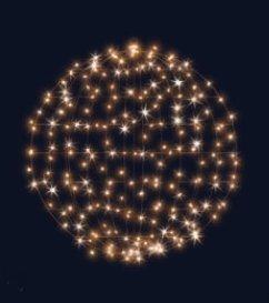 3D hvězdná koule, průměr 100cm, stálesvítící, teplá bílá