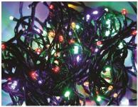 LED řetěz 120 LED/12m multicolor + ovladač 8 programů 24V