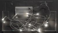 Vánoční LED řetěz na baterie 30 LED/3m studená bílá
