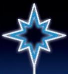 VÁNOČNÍ HVĚZDA na špičku stromu LED 15W 75x75cm, modro-bílá
