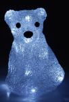Lední medvěd svítící - 20 bílých LED na baterie