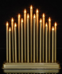 Vánoční svícen - zlatý #