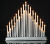 Vánoční svícen velký - stříbrný