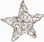 Vánoční hvězda s ratanem 25x 25 cm