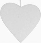 Srdce - závěsná pěnová vánoční LED dekorace #