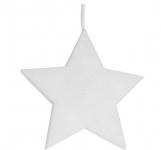 Hvězda - závěsná pěnová vánoční LED dekorace #