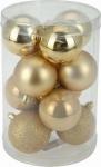 Vánoční koule - set 12ks - zlaté #
