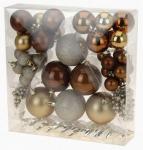 Vánoční koule - set 52ks - zlaté + měděné #