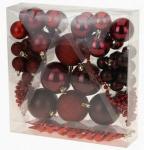 Vánoční koule - set 52ks - červené #