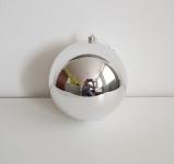 Vánoční koule stříbrná 10cm