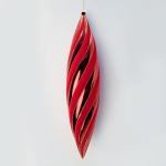Vánoční šiška velká červeno-zlatá 65cm