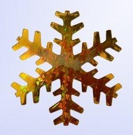 Vánoční vločka zlatá 15cm holografická