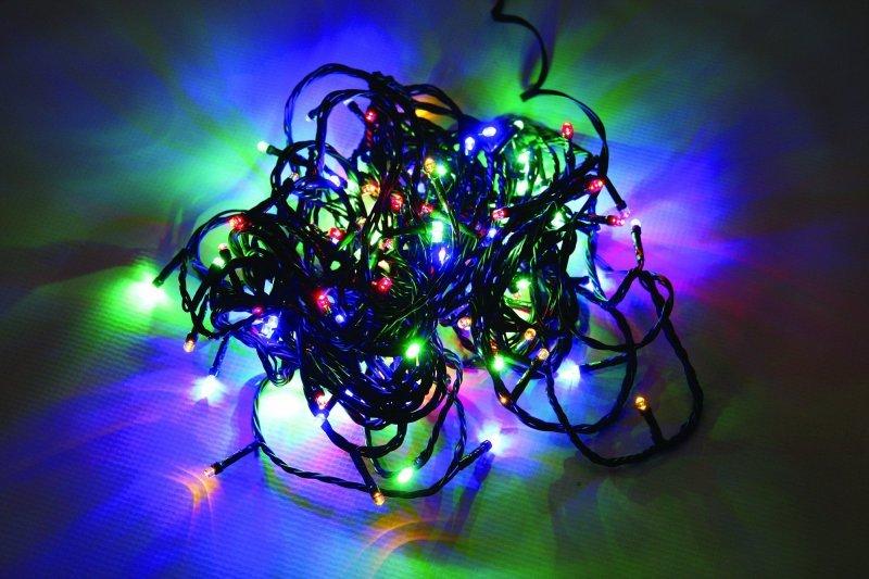 Vánoční LED řetěz na baterie 96 LED/7,2m multicolor