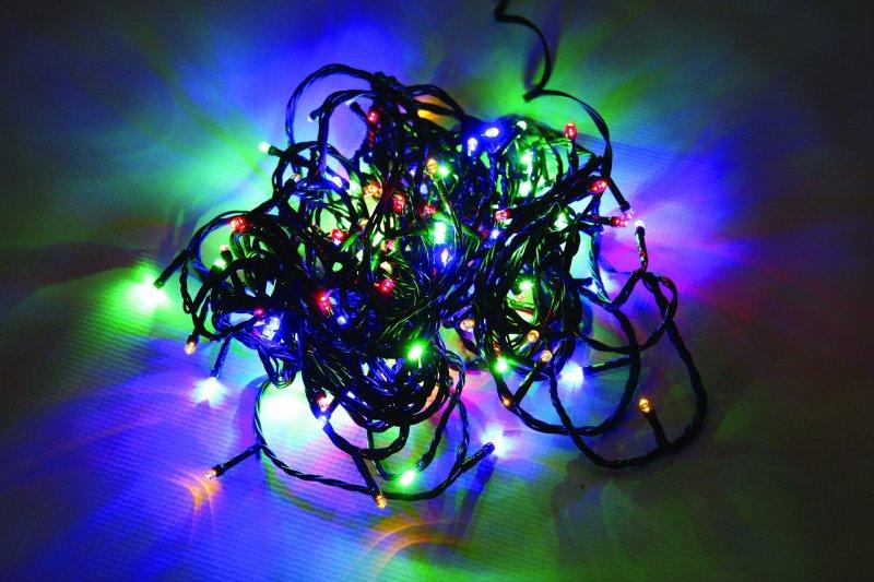 Vánoční LED řetěz na baterie 24 LED/1,8m multicolor