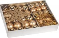Vánoční sada - 33ks - zlatá