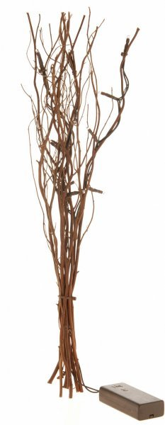 Větvičky vrbové svítící hnědé 40 cm