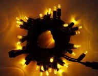 LED řetěz HIGH-PROFI 40 LED/5m prodloužitelný žlutý