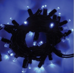 LED řetěz HIGH-PROFI 35+5 LED/5m FLASH modrá+stud.bílá