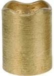 Vánoční LED svíčka - zlatá 5x6,5cm