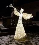 3D Anděl teplá bílá 200cm