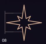 HVĚZDICE STANDARD 85x85 teplá bílá