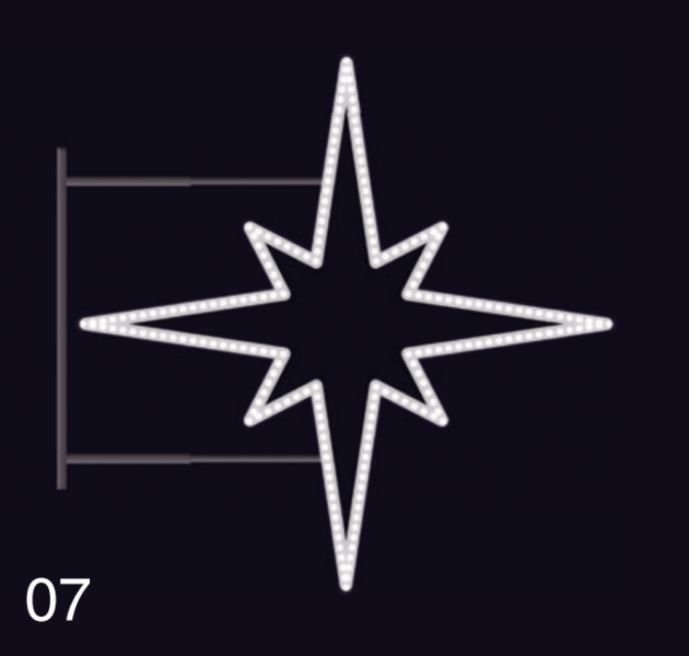 HVĚZDICE STANDARD 85x85 studená bílá