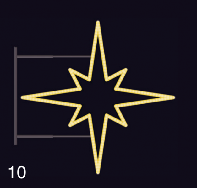 HVĚZDICE 16W LED 85x85 žlutá